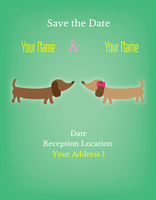 Save The Date with Cute Puppies Invite